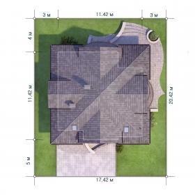 Расположение дома на участке X2