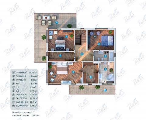 Планировка мансарды / 2го этажа X3