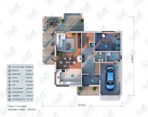 планировки первого этажа проекта X3