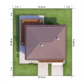 Расположение дома на участке X3