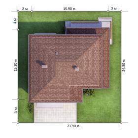 Расположение дома на участке X4