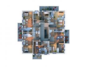 Расположение дома на участке Xb1