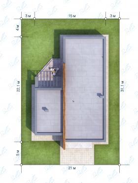 Расположение дома на участке X6