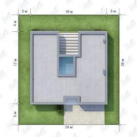 Расположение дома на участке X7