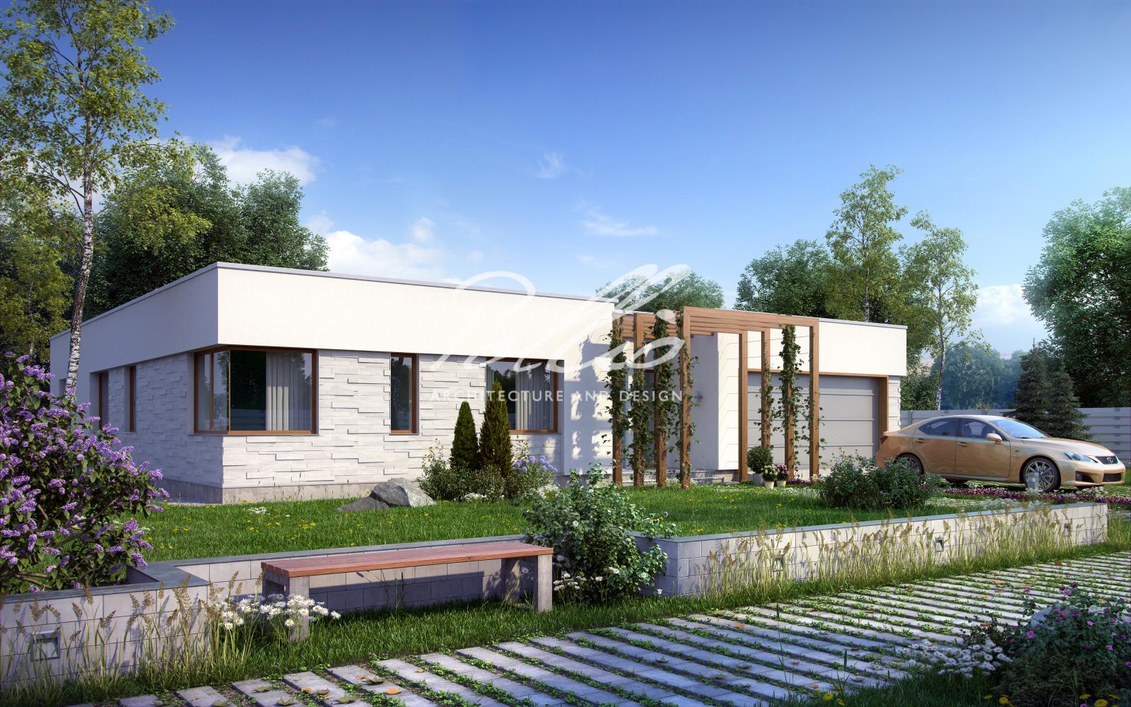 X7 Одноэтажный дом в средиземноморском стиле фото 1