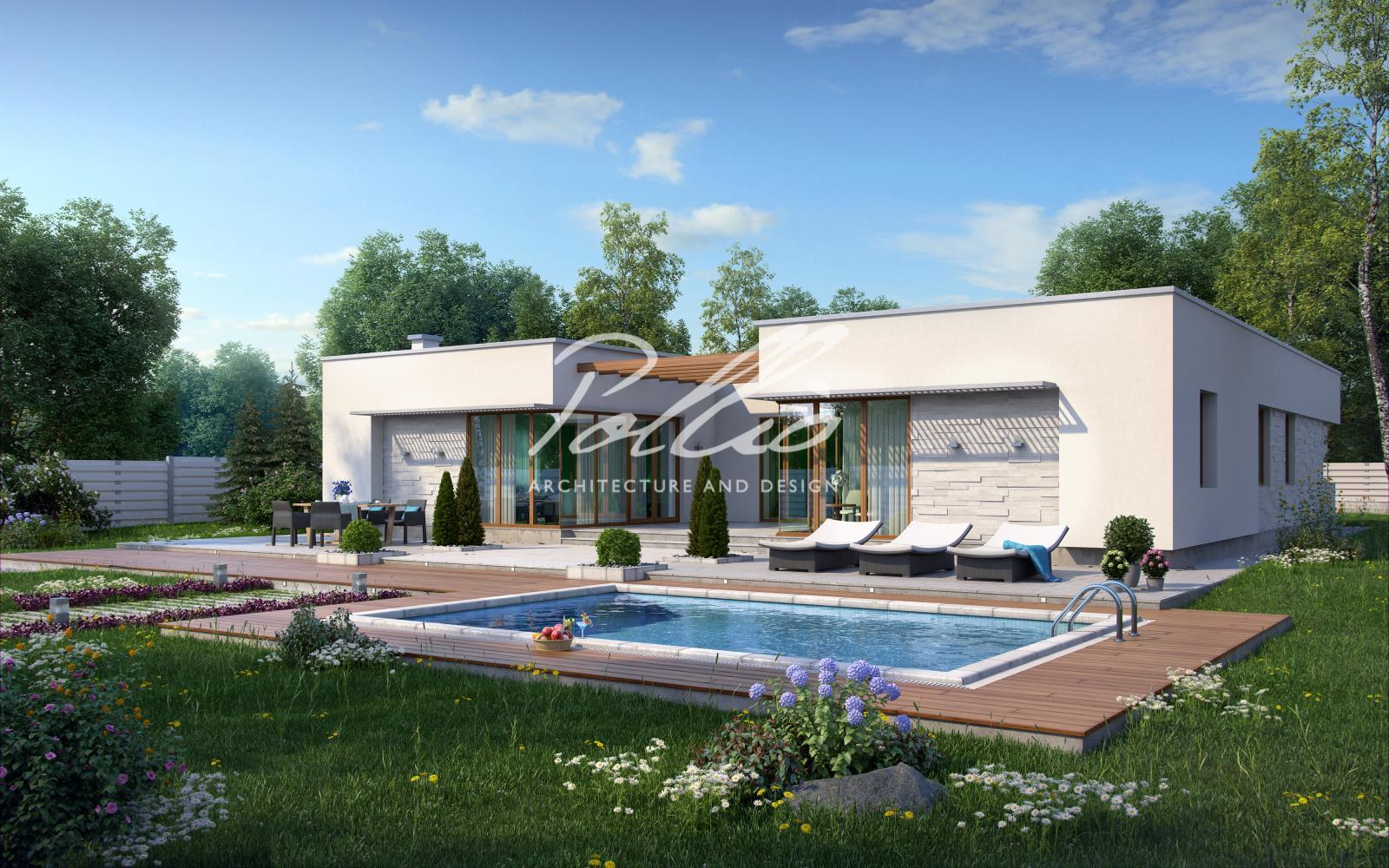 X7 Одноэтажный дом в средиземноморском стиле фото 3