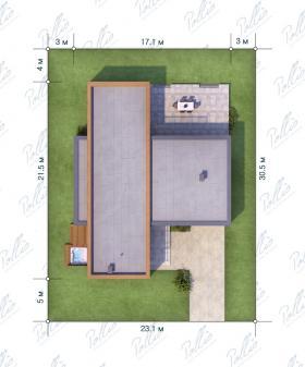 Расположение дома на участке X9