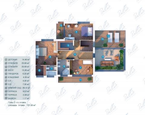 Планировка мансарды / 2го этажа X10