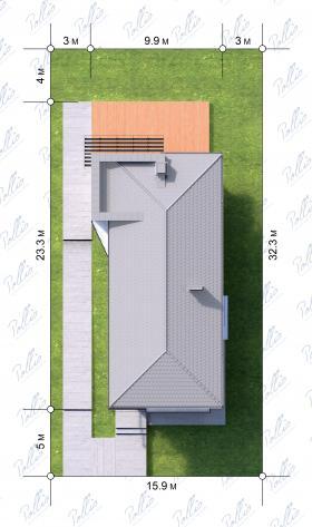 Расположение дома на участке X11