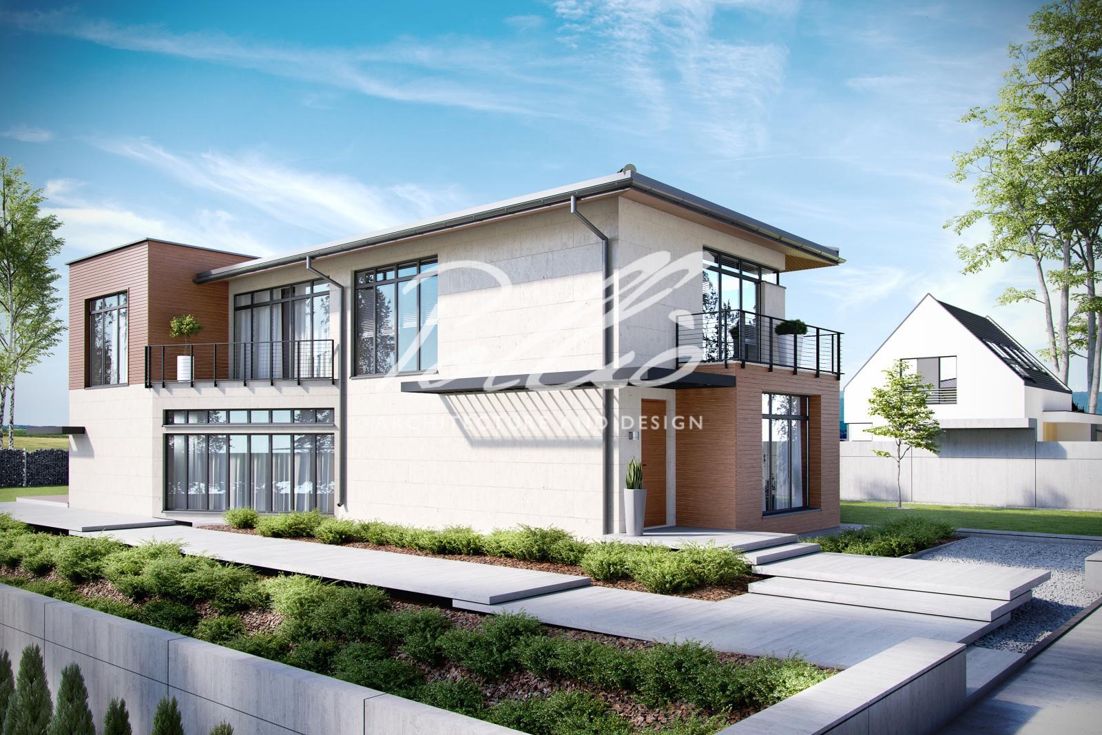 X11 Захватывающий проект дома для узкого участка фото 2