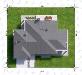 Расположение дома на участке X12