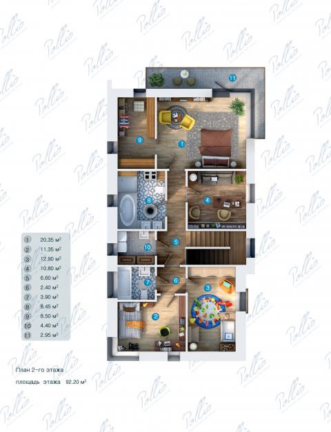 Планировка мансарды / 2го этажа X13