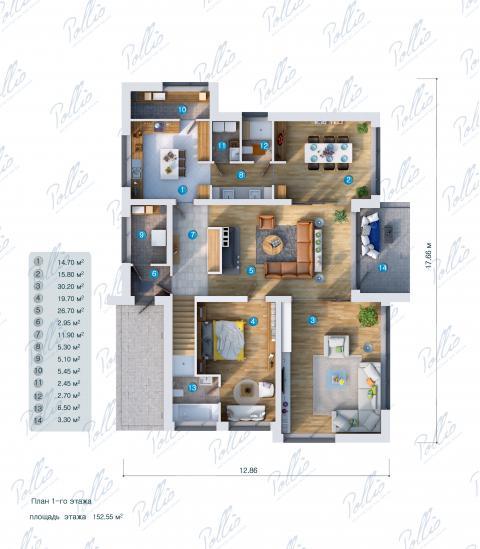 планировки первого этажа проекта X14