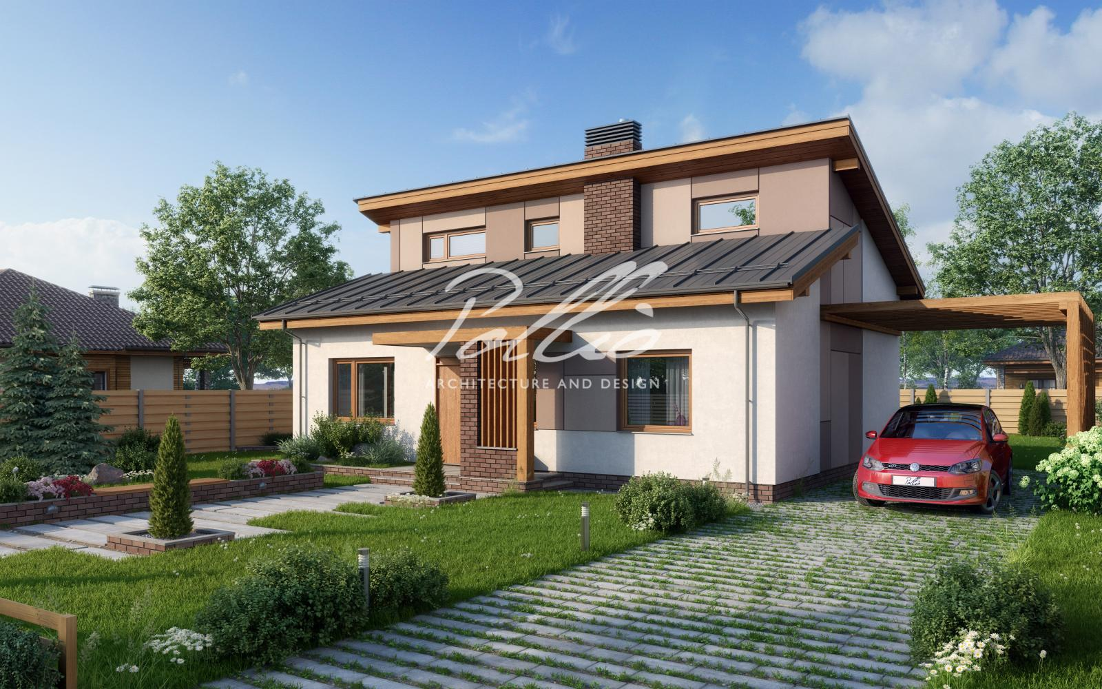 X15 Стильный проект экономного дома фото 1