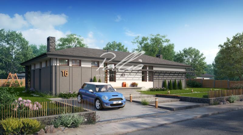 X16. Проект одноэтажного дома для современной семьи