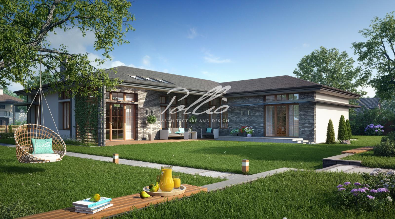 X16 Проект одноэтажного дома для современной семьи фото 3