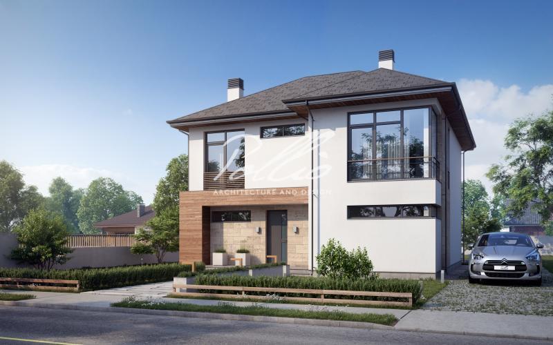 X18. Классический проект двухэтажного дома