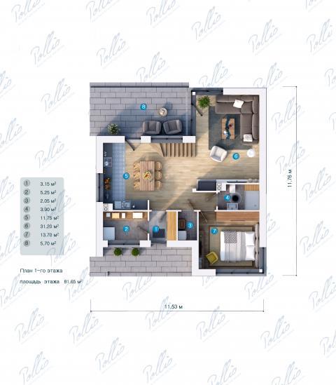 планировки первого этажа проекта X18