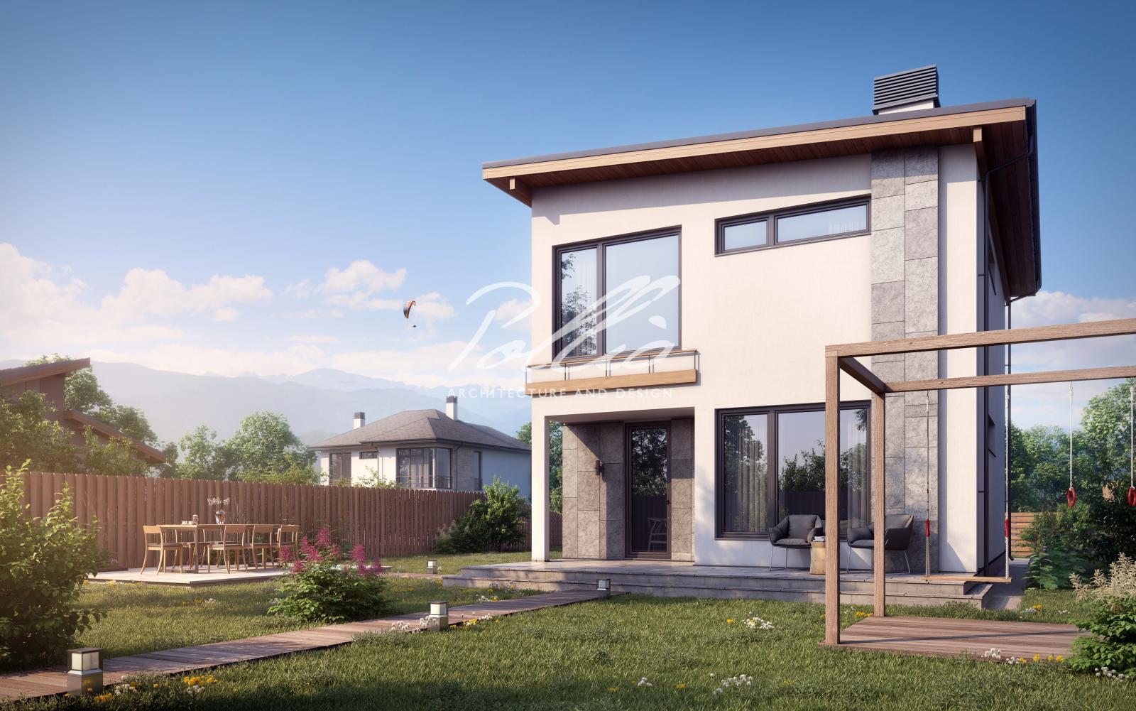 X19 Небольшой и стильный проект двухэтажного дома фото 4