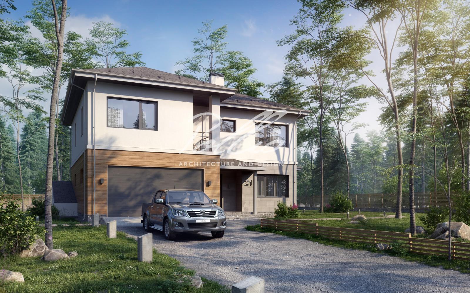 X21 Проект двухэтажного дома с подвалом фото 1