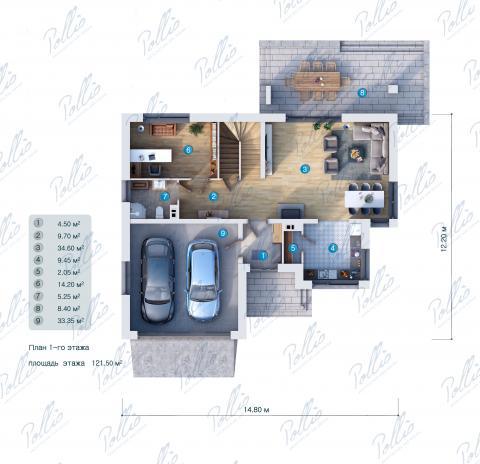 планировки первого этажа проекта X21