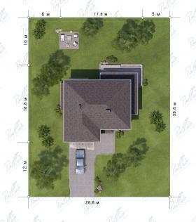 Расположение дома на участке X21