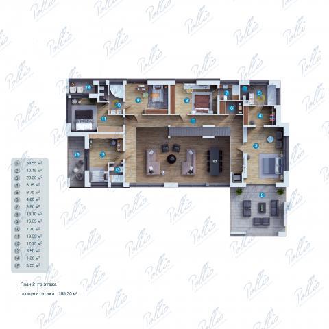 Планировка мансарды / 2го этажа X23