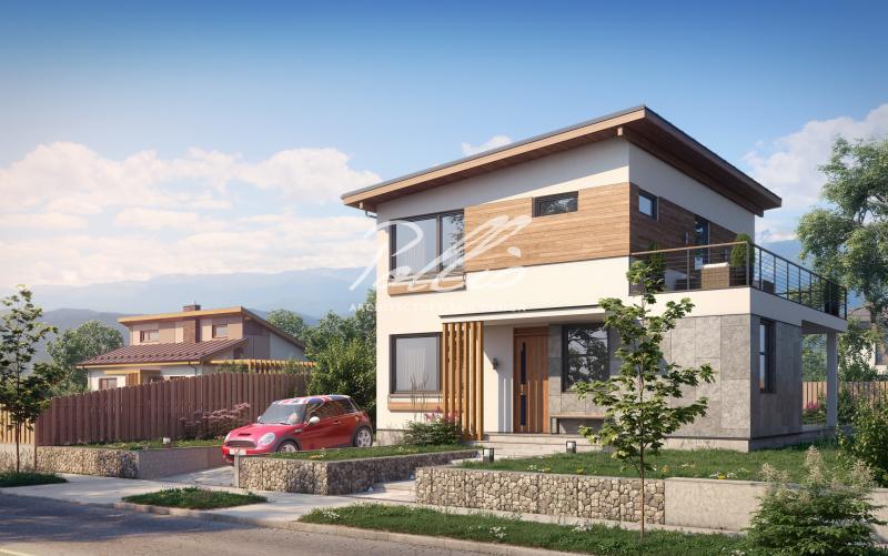 X19 a. Небольшой проект двухэтажного дома со вторым светом
