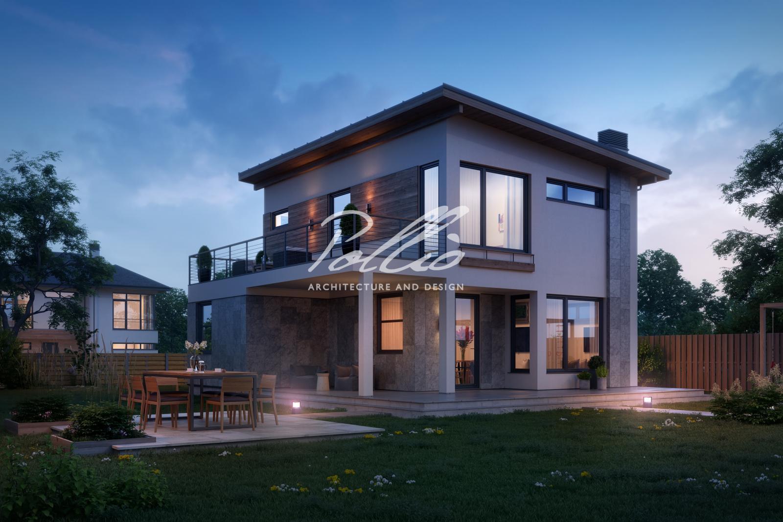 X19a Небольшой проект двухэтажного дома со вторым светом фото 2