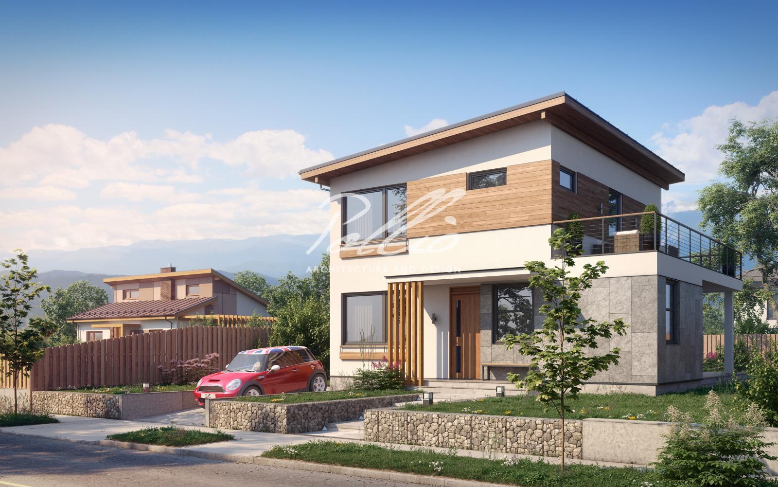 X19a Небольшой проект двухэтажного дома со вторым светом фото 1
