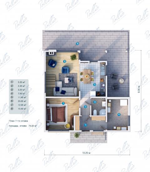 планировки первого этажа проекта X19a