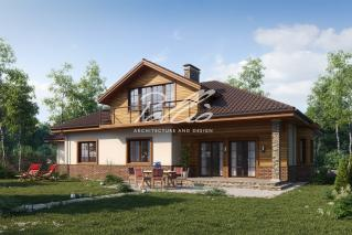 X1a Классический проект мансардного дома с усовершенствованиями  фото 2