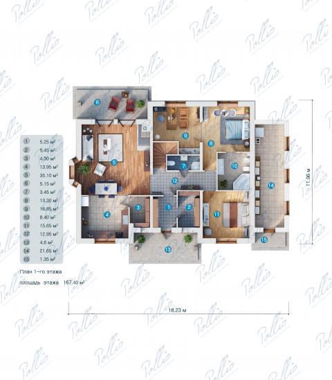 планировки первого этажа проекта X1a