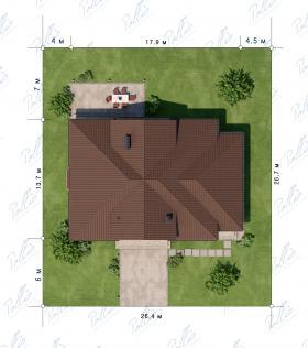 Расположение дома на участке X1a