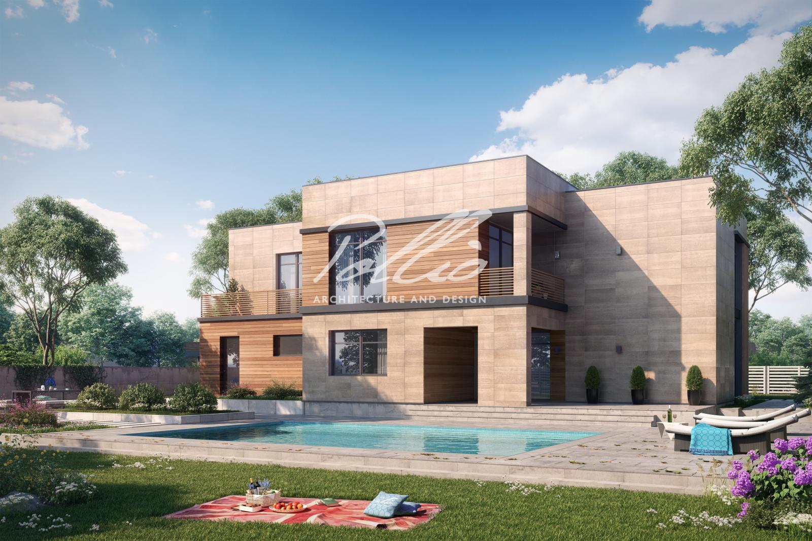 X10a Проект современного двухэтажного дома фото 2