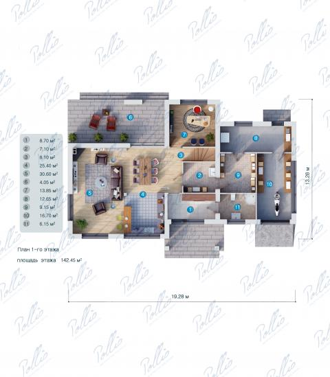 планировки первого этажа проекта X10 a