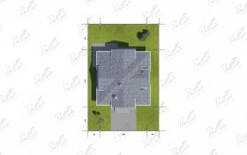 Расположение дома на участке X2a