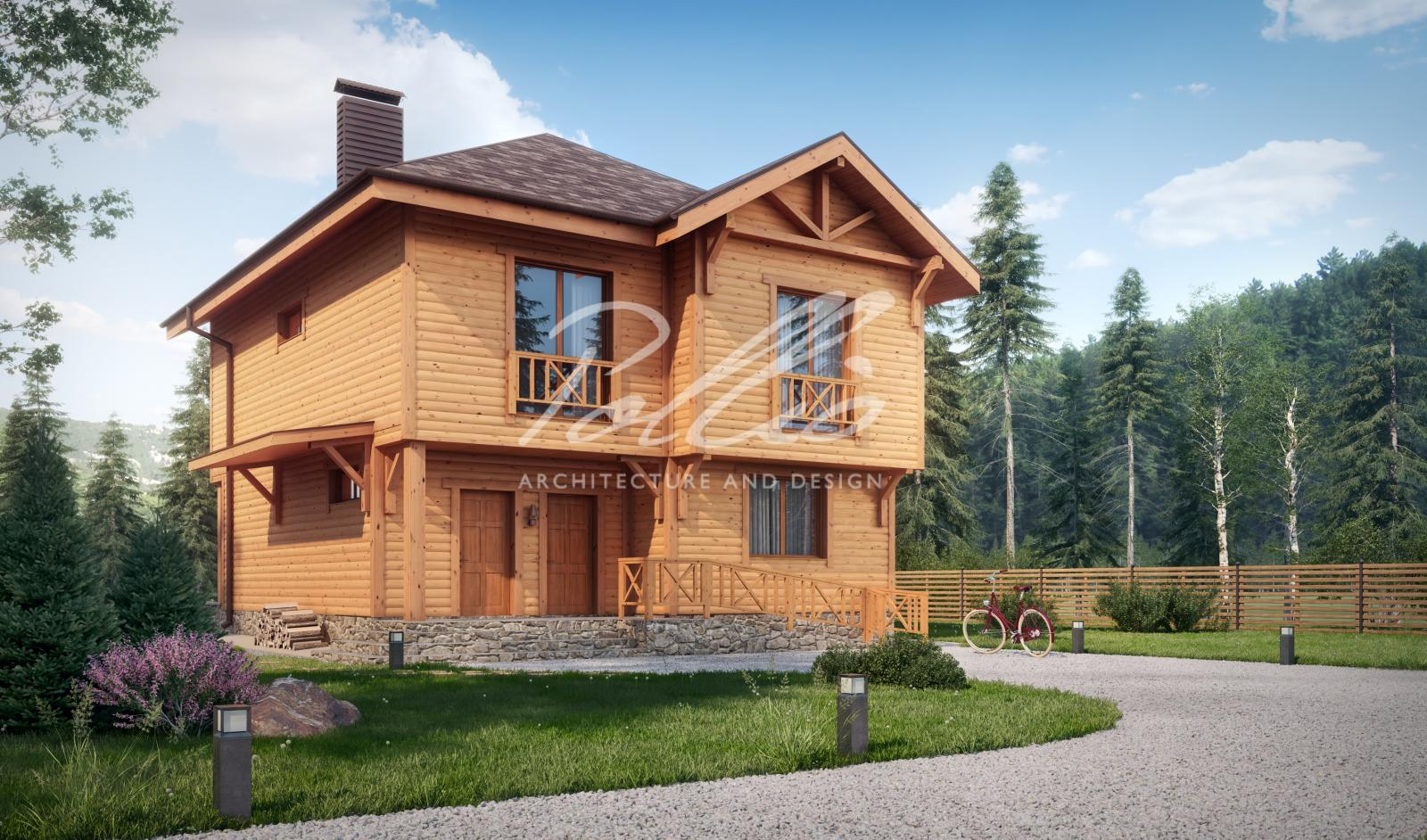 X24 Проект деревянного двухэтажного дома фото 1