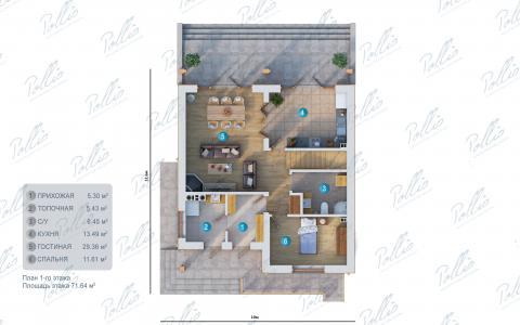 планировки первого этажа проекта X24