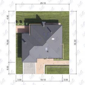 Расположение дома на участке X12b