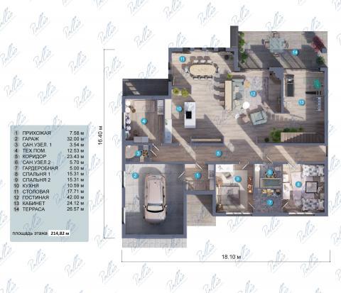 планировки первого этажа проекта X12b