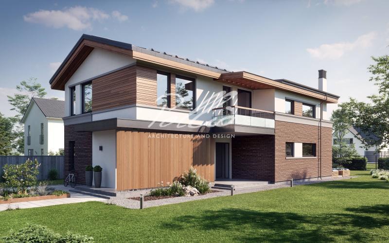X25. Современный проект дома для узкого участка