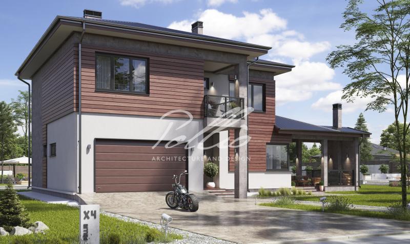 X4a. Классический двухэтажный дом