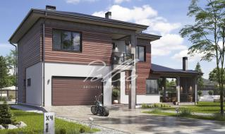 X4a Классический двухэтажный дом фото 1