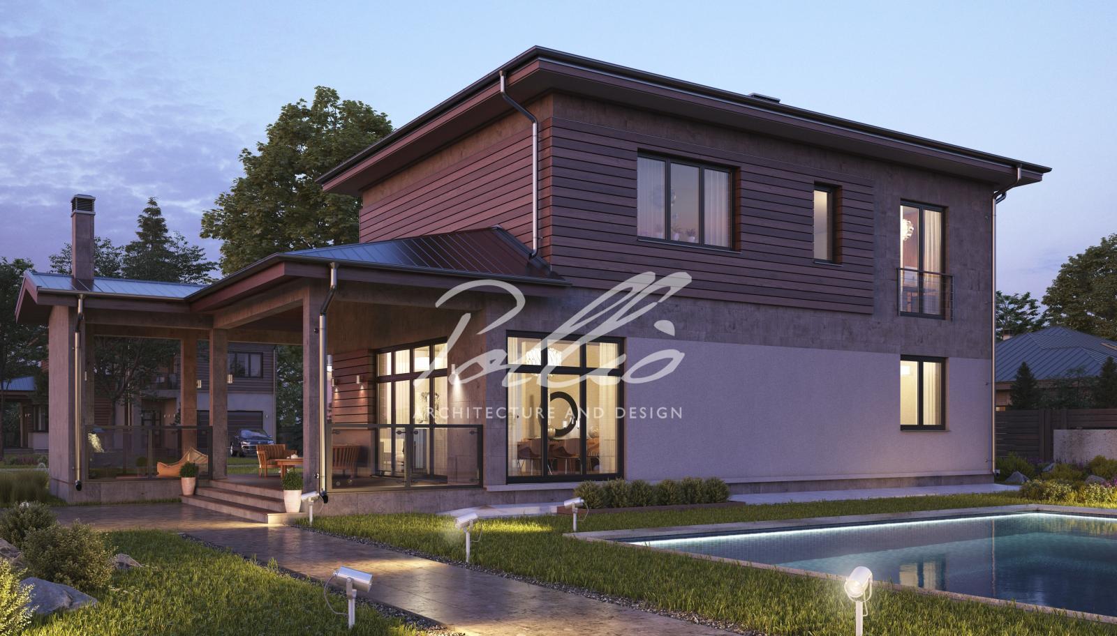 X4a Классический двухэтажный дом фото 4