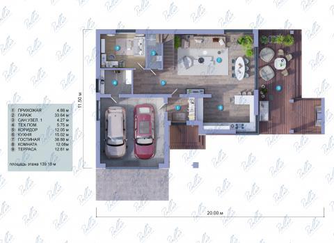 планировки первого этажа проекта X4a