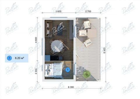 Планировка мансарды / 2го этажа X26