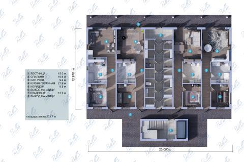 планировки первого этажа проекта Xb3