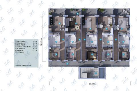 Планировка мансарды / 2го этажа Xb3