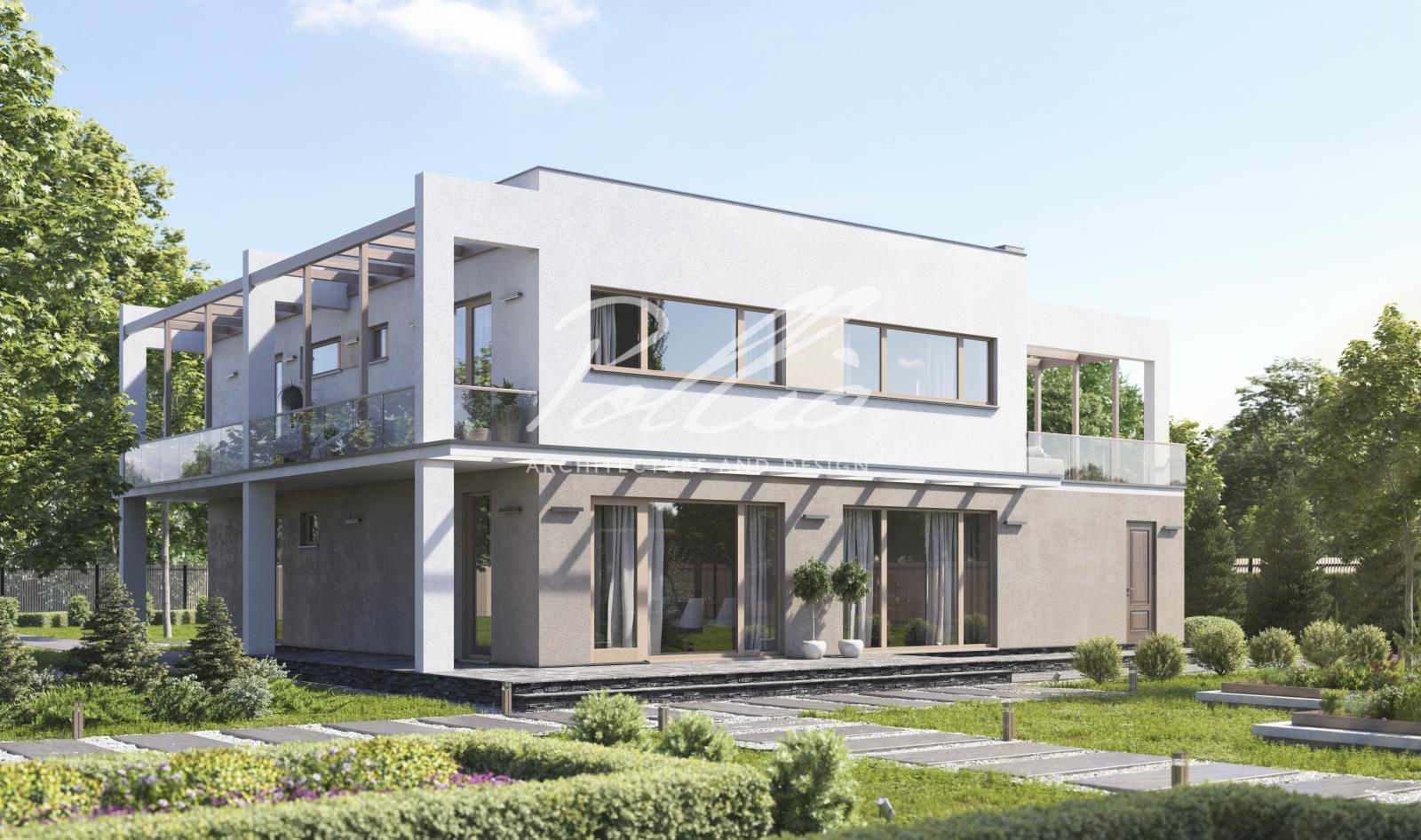X29 Двухэтажный дом с плоской кровлей фото 2
